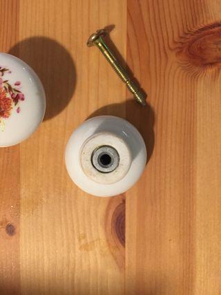 Tiradores porcelana rústicos