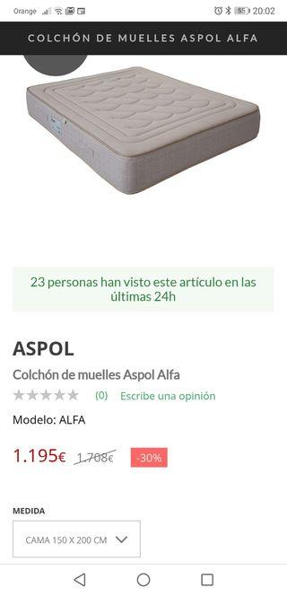 Colchon aspol 1,5x2 M