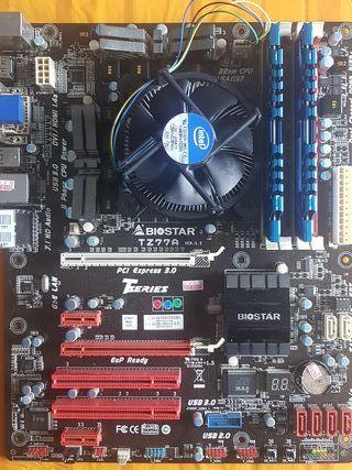 placa base + cpu + memoria