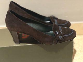 Zapatos ante marrón Nuevos!