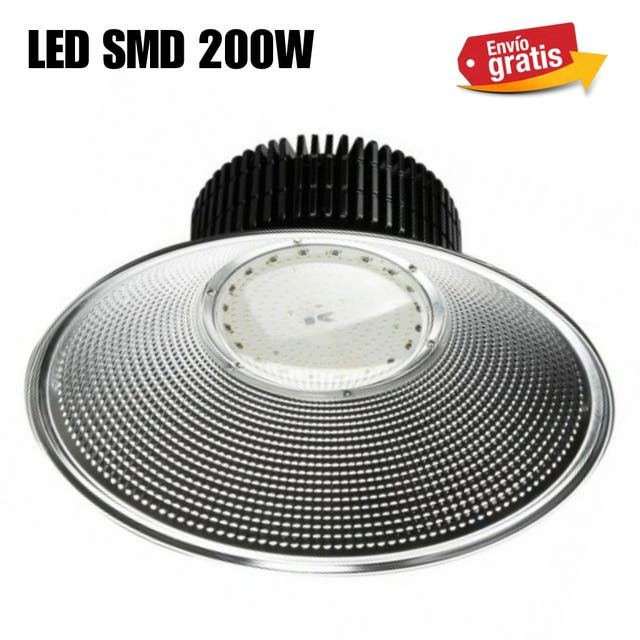 CAMPANA LED SMD 200W LUZ BLANCA NUEVA.