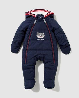Buzo de bebé niño Freestyle en azul con capucha