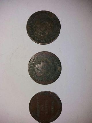 2'50 pesetas del 1953 .5 centimos de escudo 1868