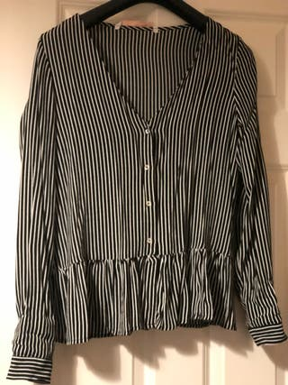Black stripped blouse from zara