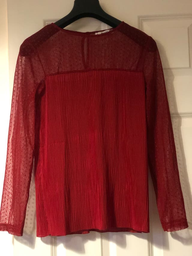 Red blouse from Mango