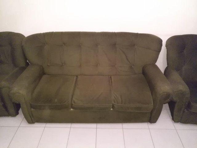 Sofa Grande 2 Sofas Verde Oscuro De Segunda Mano Por 50 En