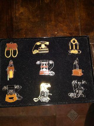 teléfono antiguo colección pin