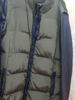 Abrigo plumas Zara verde militar