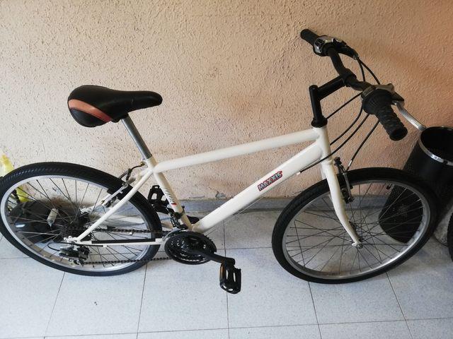 Bici infantil MTB blanco rueda 24 pulgadas