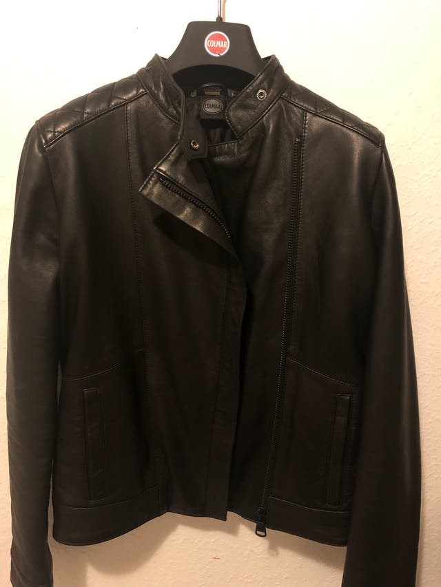 Colmar leather biker jacket womens