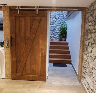 Puertas de madera r sticas de segunda mano en wallapop for Puertas para casas rusticas