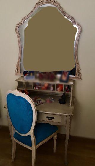 Conjunto de escritorio y espejo- Secreter y Espej