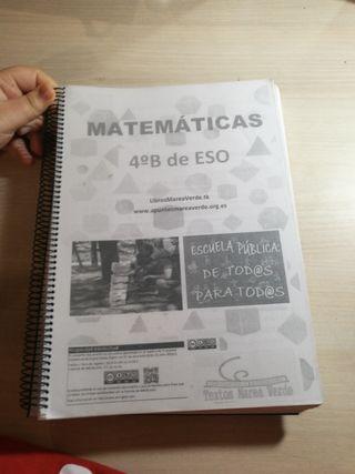 Libro impreso matemáticas 4°B de ESO
