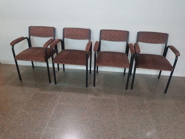 4 sillas recepción oficina. de segunda mano por 15 € en Premià de ...