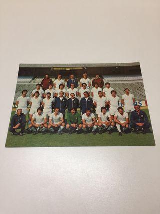 Postal Real Madrid Plantilla Temporada 77/78