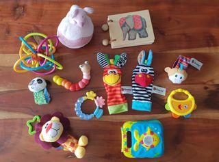 lote juguetes bebé 0-9 meses