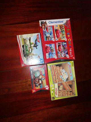 pack de 4 puzles para 5 años