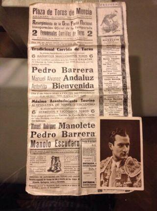 Pañuelo conmemorativo años 40 toreo