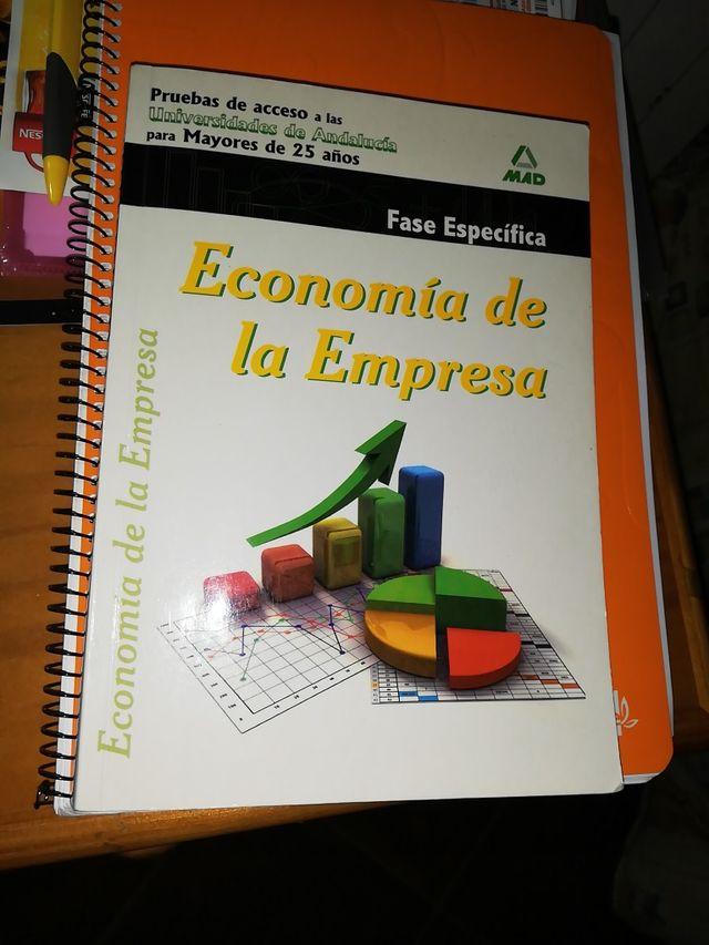 libro economía pruebas de acceso a mayores de 25 a