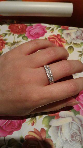 precioso anillo oro blanco