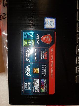 """PORTATIL MSI 17"""" GE73VR i7 7700HQ 16 GB DDR4"""