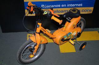 Bicicleta de niño con ruedines BTWIN Model KiKodil