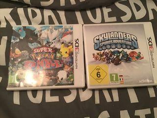 Juegos Skylanders y Pokemon Rumble