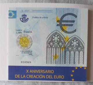 Sello, correos, filatelia, Euro