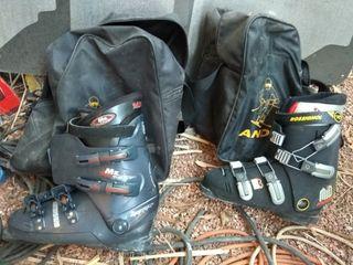 esquís y botas de esquí