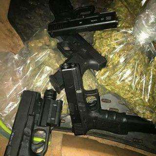 top grade marijuana and guns available