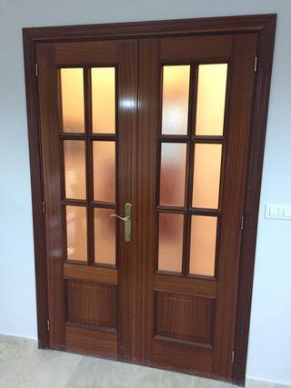 puerta de paso doble cristal