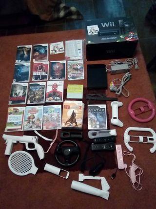 Wii, dos mandos, 15 juegos originales