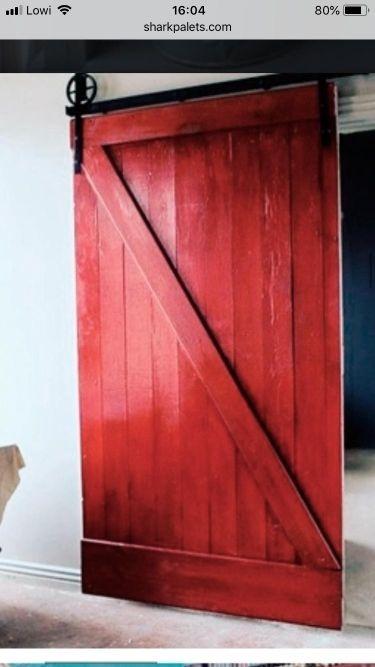 Puertas correderas r sticas madera palets de segunda mano - Puertas madera barcelona ...