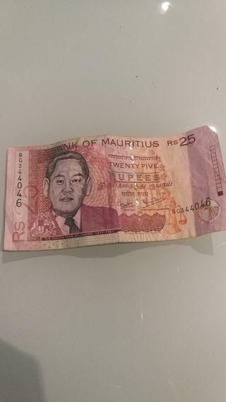 billete rupias Mauritania