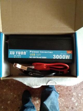 inversor convertidor de corriente 12 voltios 220