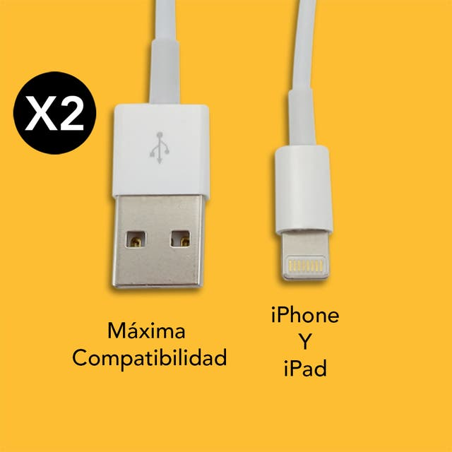 2 X Cable Lightning iPhone 5 6 7 8 X XS Max iPad