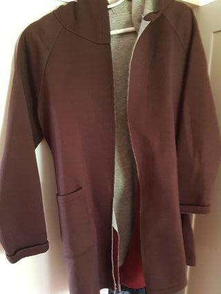 chaqueta neopreno marrón chocolate