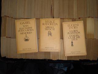 Colección de libros de literatura catalana