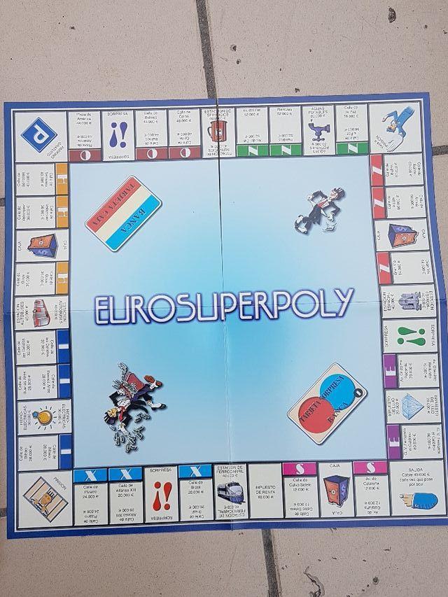 juego de mesa: EUROSUPERPOLY