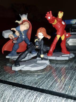 Disney Infinity Thor, Iron Man, Viuda Negra