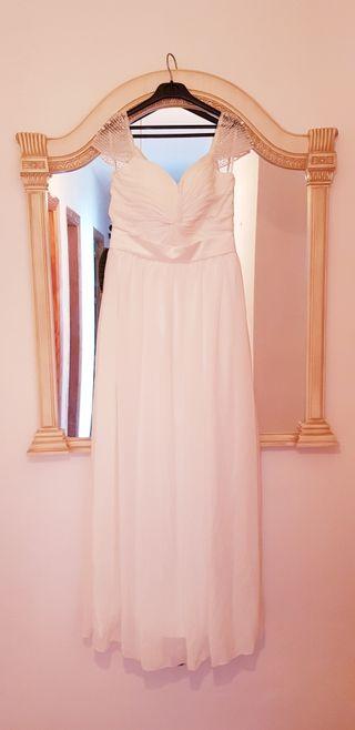 Vestido de novia sencillo o fiesta