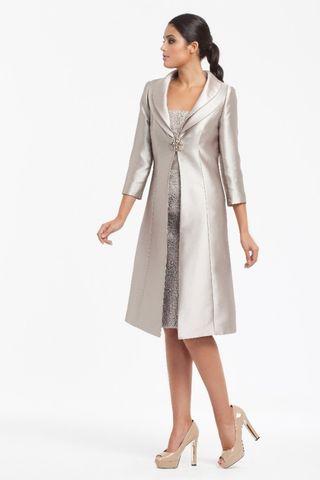 Vestidos de fiesta cortos con abrigo