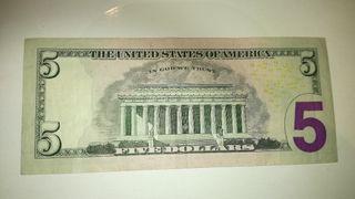 BILLETE DE 5$ DOLARES AMERICANO.