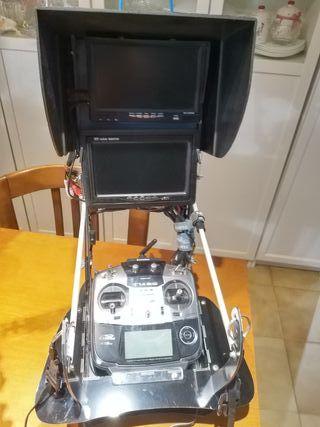 Pupitre Marakato con doble monitor y receptor