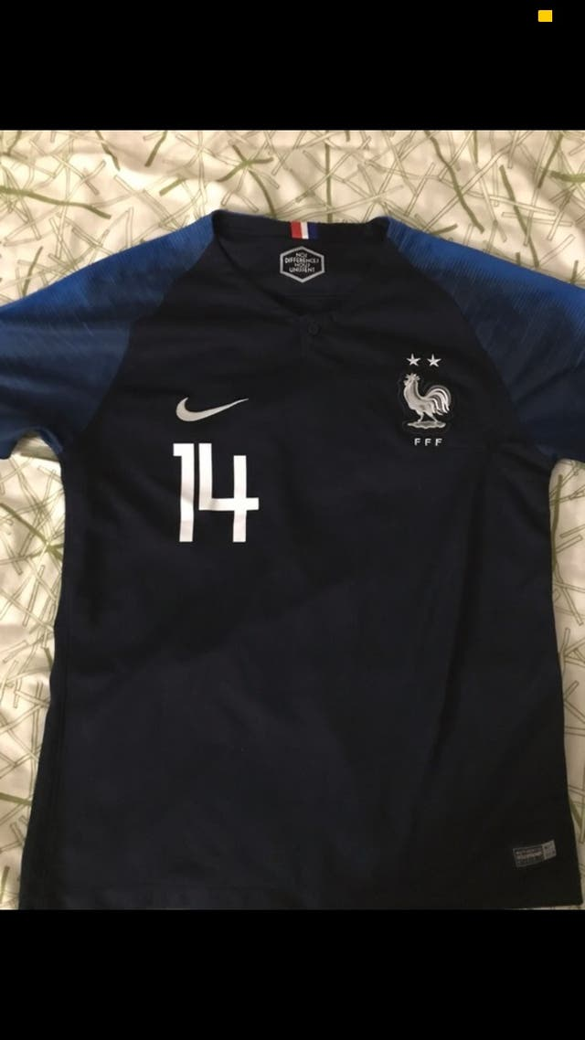 French football shirt champions patch 2 stars