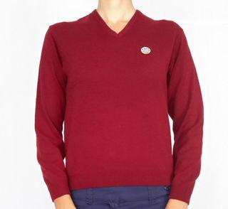 3 colores jerséys suéters de punto cuello pico