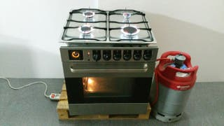 horno eléctrico + encimera a gas