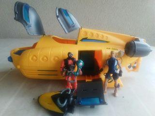 submarino muñeco buzo articulado fisher price