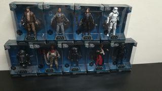 9 figuras Star Wars serie elite de Rogue One