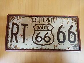 Chapa ruta 66 California